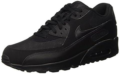 Nike Air Max 90 537384, Herren Sneakers Training, Schwarz (Black/Black/Black/Black), 44.5 EU