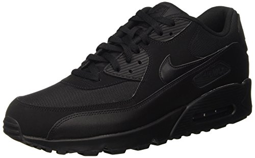 Nike Air Max 90 537384, Herren Sneakers Training, Schwarz (Black/Black/Black/Black), 39 EU