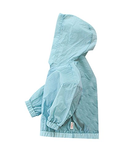 isex Baby Wasserdichte Mäntel mit Kapuze Kostüm Outwear Regenmäntel Windjacke übergangsjacke (Kleinkinder Blauen Mantel Tragen Kostüme)
