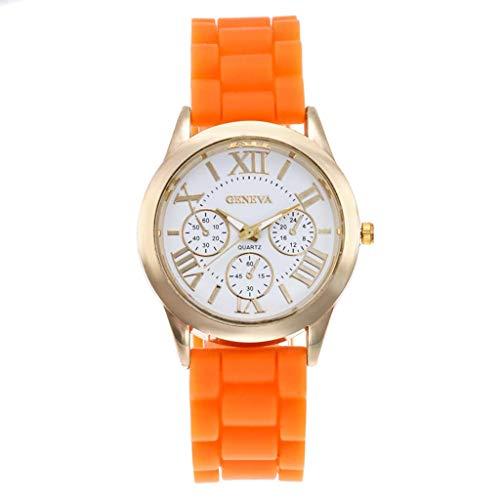 n Quarzuhr DREI Auge Roman Scale Dial Lässige Silikonband Herren Einzigartiges Design Analog Armbanduhren Für Edelstahl Band Business Kleid ()