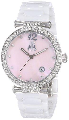 Jivago Womens Analog Swiss-Quartz Watch with Ceramic Strap JV2214