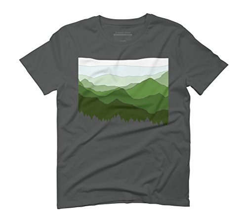 The Horizon Men's Graphic T-Shirt - Design By Humans Anthracite
