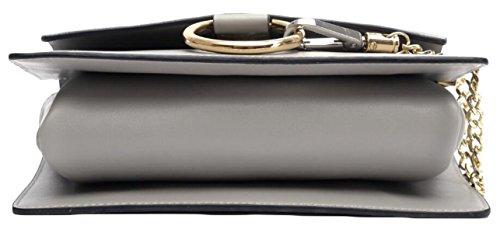Catena In Pelle Signora Round Messenger Bag Black
