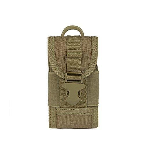 ZYT Tattico multiuso militare Camo Borsa piccola fotocamera digitale Borsa tattico telefono mobile Pocket . black Khaki