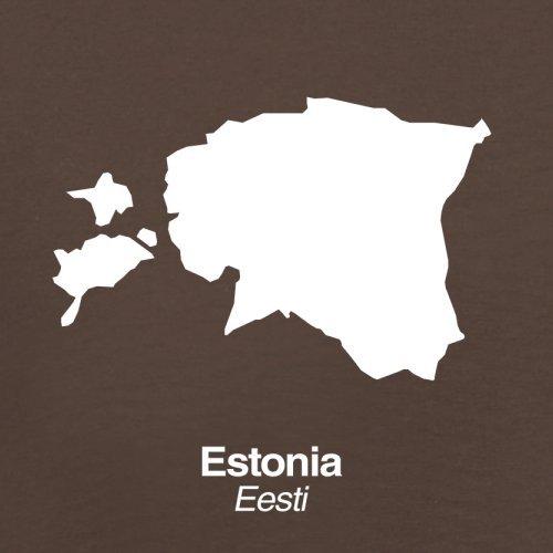 Estonia / Estland Silhouette - Herren T-Shirt - 13 Farben Schokobraun