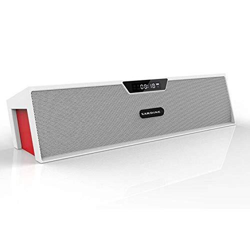 CE-LXYYD SDY019 Bluetooth Lautsprecher Alarm Ton, Bluetooth-Karte FM-Anruf, eingebautes HD-Mikrofon,whitered