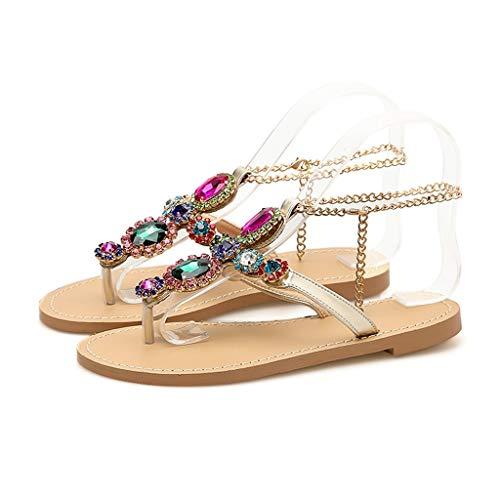 Frauit sandali estivi donna bassi gioiello scarpe ragazza eleganti basse con strass sandali estivi bassi etnici sandali bassi schiava cuoio moda bohemian sandalo da spiaggia mare piscina