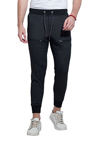 Alan Jones Solid Men's Joggers Track Pants (JOG18-FN01-BCK-M_Medium_Black)