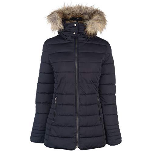 Firetrap Damen Luxe Bubble Jacke Steppjacke Kapuze Marineblau XS