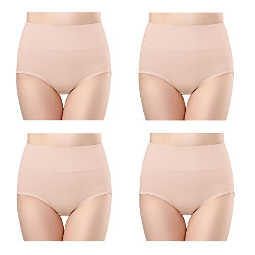 3db388dcc6d wirarpa Ladies Knickers High Rise Soft Bamboo Modal Underwear Panties for  Women Stretchy Comfortable Briefs 4
