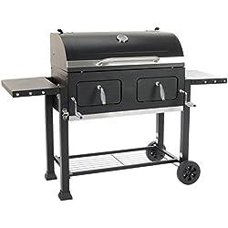 Grillchef Comfort Barbecue-Chariot à Charbon, Noir, 154,5 x 110 x 66,5 cm