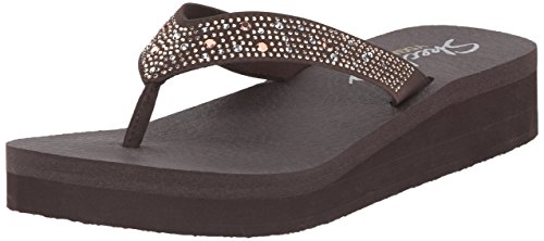 Skechers Vinyasa sun Ray, Tongs femme Marron (Choc)