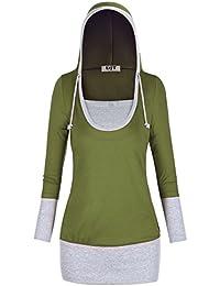 DJT Veste à capuche de pull de dames Hoody Sweat Jacket long manches Shirts
