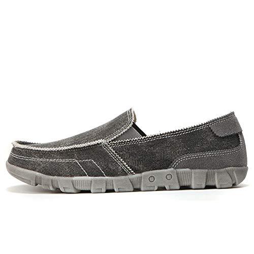 Jessica Simpson Espadrille (Canvas Shoes Men Summer Breathable Slip On Vintage Male Loafers Casual Fashion Mens Espadrilles Man Denim Shoe Big Size Gray 10)