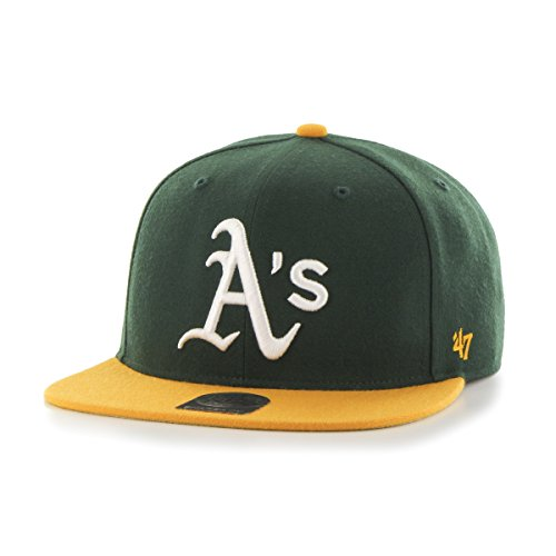 47-brand-mlb-oakland-athletics-sure-shot-2-tone-47-captain-gorra-de-beisbol-unisex-adulto-verde-gree