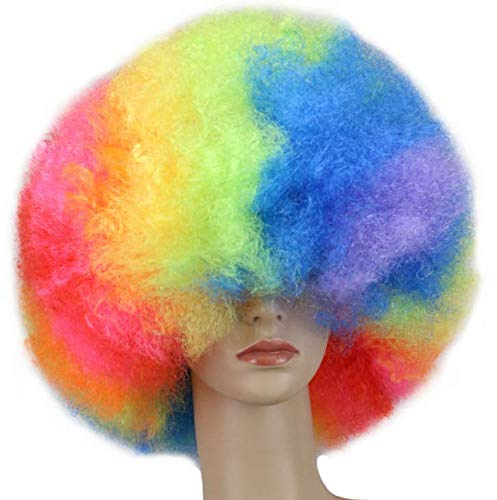 Perücke bunte Explosion Kopf Fashion Fans Halloween Maskerade Clown Kleid Show Perücke Set - Farbe