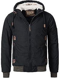 Sublevel Herren Winterjacke Parka Steppjacke Baumwoll Winter Jacke Kapuze 44334A S M L XL
