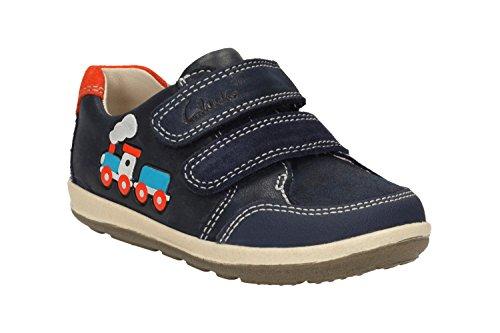 Clarks Softly Tom Fst, Chaussures Marche Bébé Garçon Bleu (Navy)