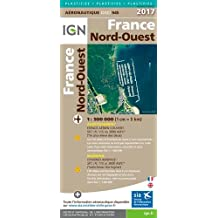 Oaci945 France Nord-Ouest Plastifiee 2017 1/500.000