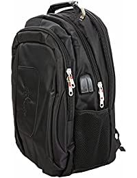 Flylite Stylish Laptop Bag/Backpack Black Color With USB Charging Port And 1.5 Mm Jack For Headphone