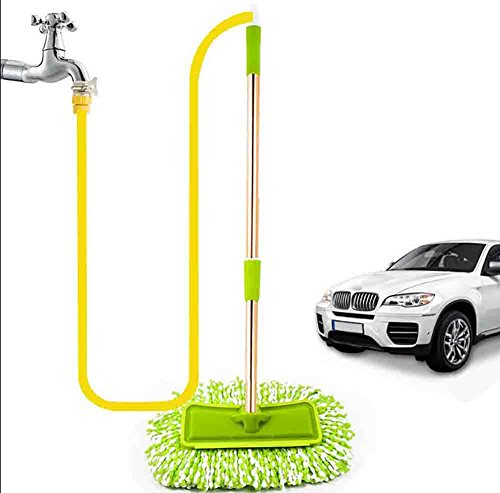 BMDHA Autowaschbürste Teleskopisch Langer Griff Verbindung Wasserquelle Autowaschbürste Weich 10 Meter Wasserrohr
