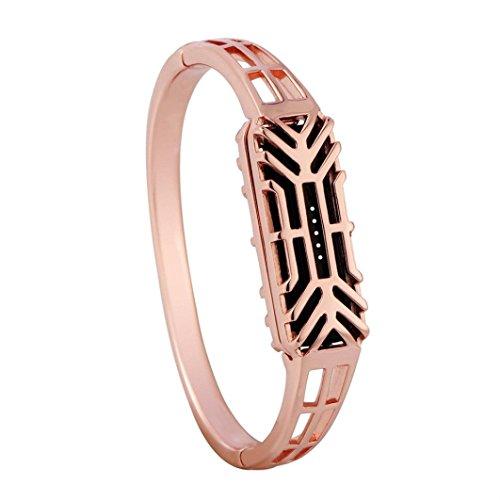 Preisvergleich Produktbild Sansee Pure Kupfer Antioxidation Armreif Armband, Armband für Fitbit Flex 2 (Fitbit Flex 2-8108, Rose Gold)