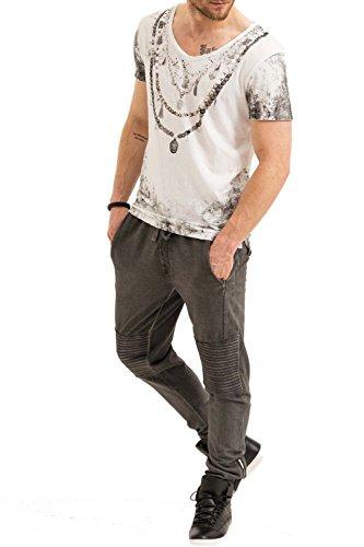 trueprodigy Casual Herren Marken T-Shirt mit Aufdruck, Oberteil cool und stylisch mit Rundhals (kurzarm & Slim Fit), Shirt für Männer bedruckt Farbe: Weiß 1073127-2000 White