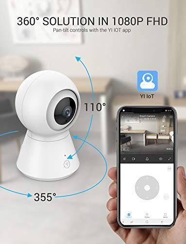 YI IOT 1080P Cámara esférica con WiFi,  Detección de Movimiento,  Audio bidireccional,  Visión Nocturna y Baby Phone,  Niños y Mascotas Cámara iOS/Android
