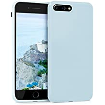 kwmobile Funda para Apple iPhone 7 Plus / 8 Plus - Case para móvil en TPU silicona - Cover trasero en azul claro mate
