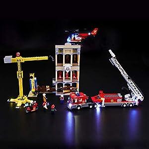 BRIKSMAX Kit di Illuminazione a LED per Lego City Missione antincendio in Città, Compatibile con Il Modello Lego 60216… LEGO City LEGO