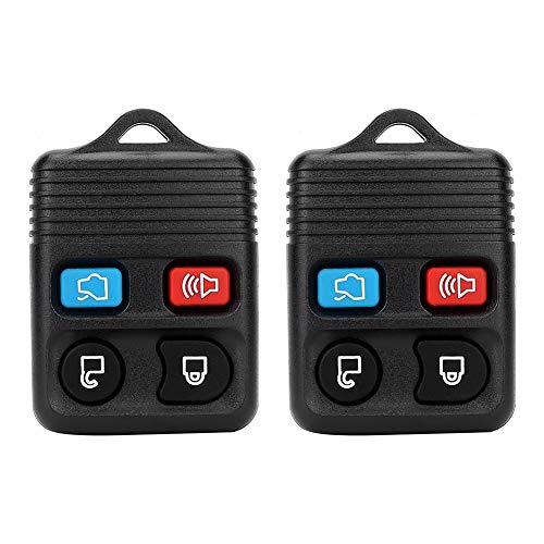 2 stücke 4 Knopffernschlüssel Auto Keyless Entry Fernbedienung Schlüsselanhänger Clicker Sender Clicker-sender