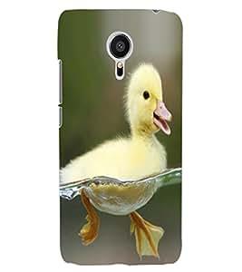 ColourCraft Cute Duck Design Back Case Cover for MEIZU MX5