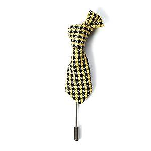 Anstecknadel Reversnadel Krawatten Design Hochzeitsbrosche Brosche Gentleman Sakko Accessoire Herren Stil London Klassik Mode Anzug Jacket Gesellschaftskleidung Black Tie Garderobe