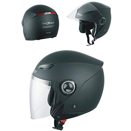 A-pro casco jet visiera lunga scooter moto quad omologato ece 22 05 nero opaco l