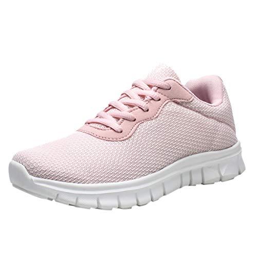 SSUPLYMY Damen Walkschuhe Laufschuhe Ultraleichte Fly knitted Trainer Schuhe Atmungsaktive Freizeitschuhe Sportschuhe Sneaker Casual Straßenlaufschuhe Outdoor Sneakers Schuhe -