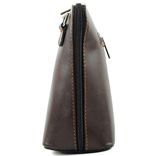 modamoda de -. borsa in pelle ital piccole signore borsa tracolla bag Città bovina T94 Schokoladenbraun