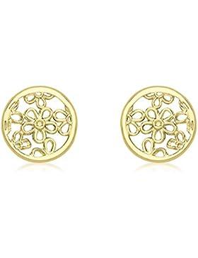Carissima Gold Damen-Ohrstecker 9ct Earrings 375 Gelbgold