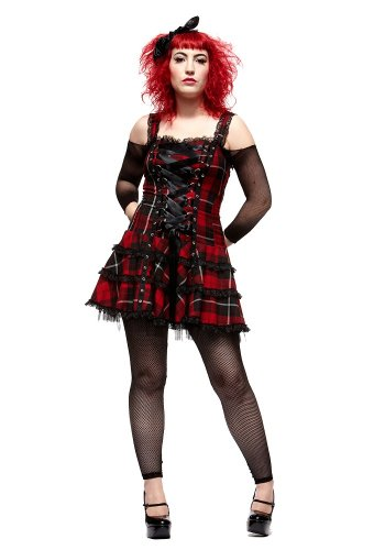Hell Bunny Harley Tartan Dress - Sizes 8 to 16 XL