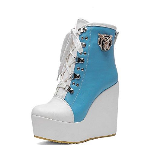 A&N - Scarpe con plateau donna Blue