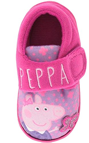 New Pink Peppa Pig Character Slippers Ideal Gift For Christmas - Pink - UK SIZE 8