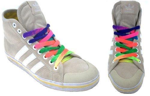Henbrandt Rainbow Lacets multicolores 90 cm