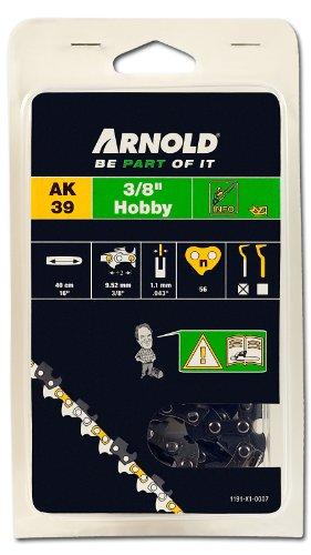 Arnold 1191-X1-0007 Sägekette 3/8 Zoll Hobby, 1.1 mm, 56 Treibglieder, 40 cm Schwert -