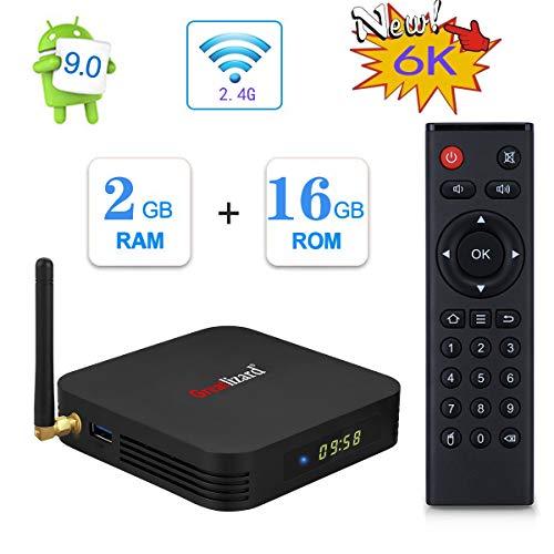 Greatlizard TX6 Android 9.0 Smart TV Box 2GB RAM 16GB ROM Vier Kern 4K HD Auflösung Dual 2.4G WiFi Set Top TV Box