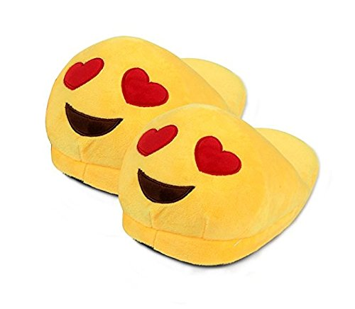 Sannysis® - Zapatillas de emoji, a la moda, de peluche, creativas, de lana Size: free size