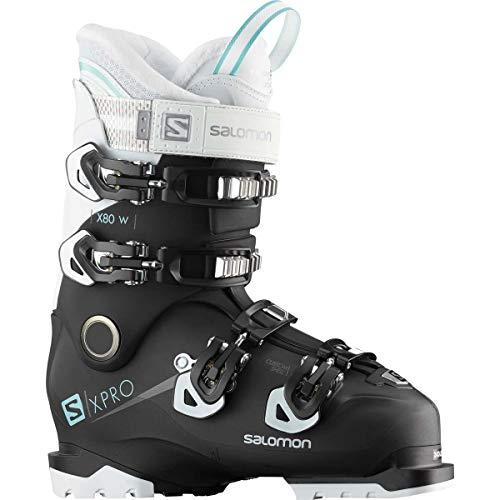 Salomon Damen X Pro X80 CS Schneestiefel, Schwarz (Black/White/Aruba Blue 000), 37 EU (Alpin-ski-stiefel Salomon)