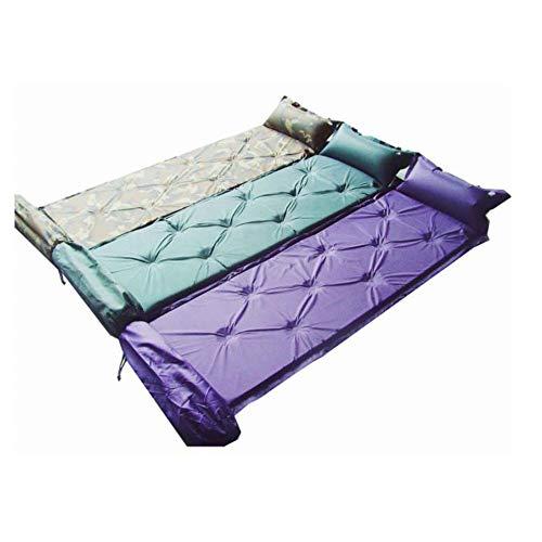 Selbstaufblasende kompakte Schaum-Schlafsack-Matte, die mit dem angebrachten Kissen wasserdichtes leichtes aufblasbares Luft-Zellen-Matratzen-einzelnes kampierendes Pad spleißt Camping