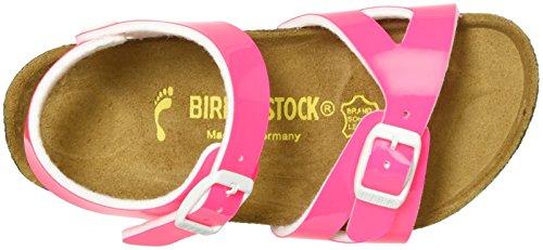 Birkenstock Rio Birko-Flor, Sandales femme rose fluorescent