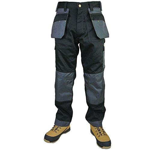 ti Pocket Handel Extreme Pro, Dreifach genäht Workwear Hosen, - BLACK / GREY - with contrast stitch detail, 38 Waist / 32.5' Regular Leg (Camo Handel)