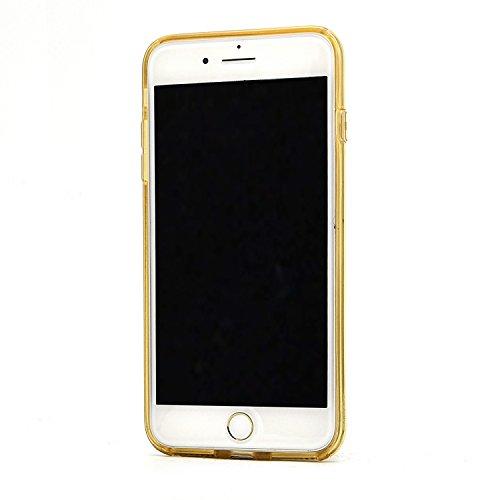 iPhone 7 Hülle, Vandot Glänzend Glitzer Schutzhülle für iPhone 7 Handyhülle TPU Silikon Weich Soft Bling Shining Luxus Ultra Thin Dünn Leicht Light Zurück Case Cover Glitter Kristall Bird's Nest Vogel Glitter Gold