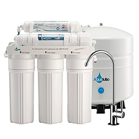 AquaLutio, Premium 5-Stage Reverse Osmosis Filtration Home System For Clean And Healthy Drinking Water Filter System 75 GPD, RO Water Filter System Under Sink & Designer Faucet - Easy Instructions by AQUALUTIO